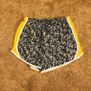 Nike Shorts - Nike Yellow & Grey Shorts- XL